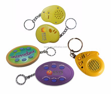 recording keyring/flash sound key ring for sound & voice funny gift