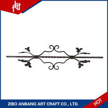 The window security bars and outdoor wrought iron stair railing used the cast steel ornaments for sale