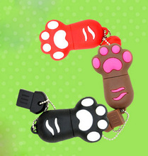 Real capacity ping cat Paw tiger Paw USB 2.0 Flash Drives thumb pendrive memory stick u disk cartoon/4GB-64GB S3