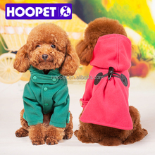 HOOPET warm winter soft pet dog clothing with imitate horn button fleece jacket jumpers chihuahua