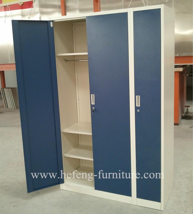 Metal Bedroom Almirah Designs With Three Colors, View