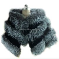 China Brand Name Color Fox Fur Scarf For Beautiful Women