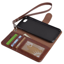 Business Style Luxury Leather Phone Case Cover Fashion Wallet Card Holder Case for iPhone 7