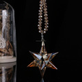 wholesale crystal glass snowflake for Christmas ornament