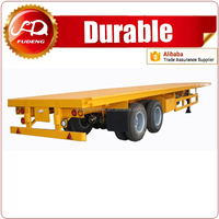 Flatbed semi trailer with all dimensions China truck trailer for sale