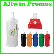Digitally Printed 16 Oz. Foldable Promotional Water Bottle