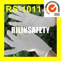 RILIN SAFETY pakistani RMY 100 super quality cotton gloves ,100 cotton industrial gloves