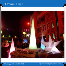 Giant advertising led pvc inflatable cones, colourful lighting inflatables with blower and LED lamps