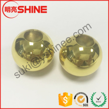 12mm 12.7mm 15mm 15.875mm 18mm 25mm threaded drilled tapped metal bead gold plated stainless steel ball with hole