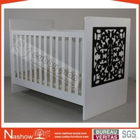 Cubby Plan LMBC-090 New Design 3 in 1 Functional High Quality Nursery Wooden Infant Crib