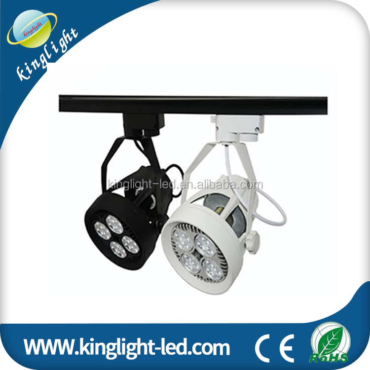 2-Light Par38 Gimbal Line Voltage LED Track light Head Black from China supplier