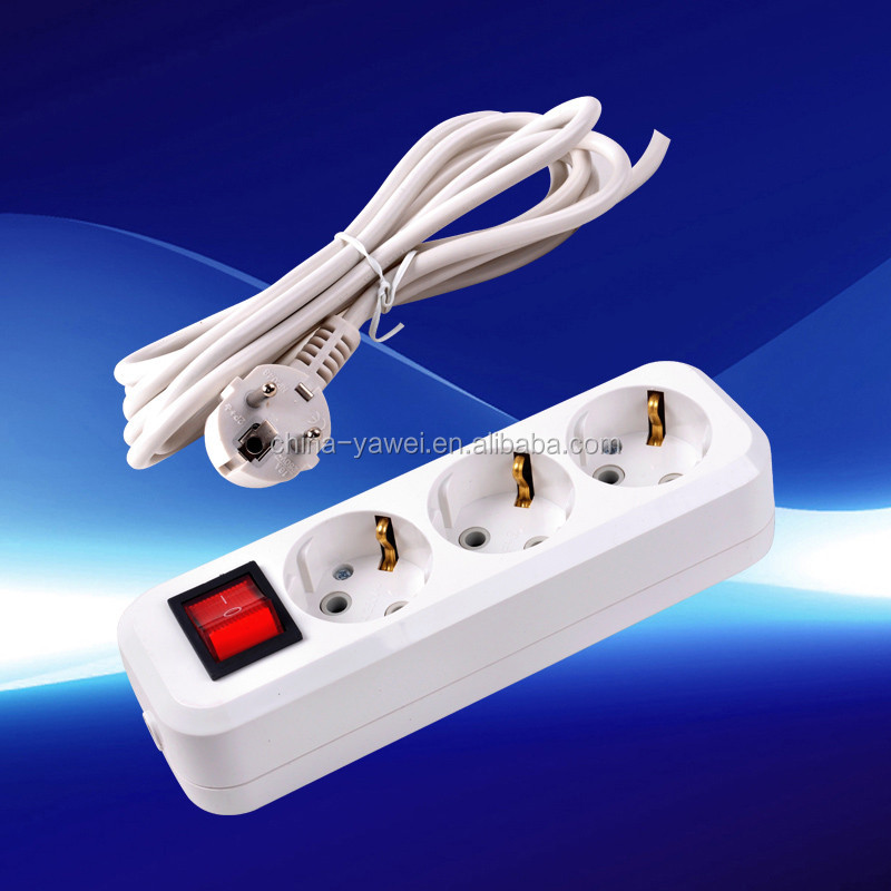 high quality group sockets 3 gang/greece extension socket