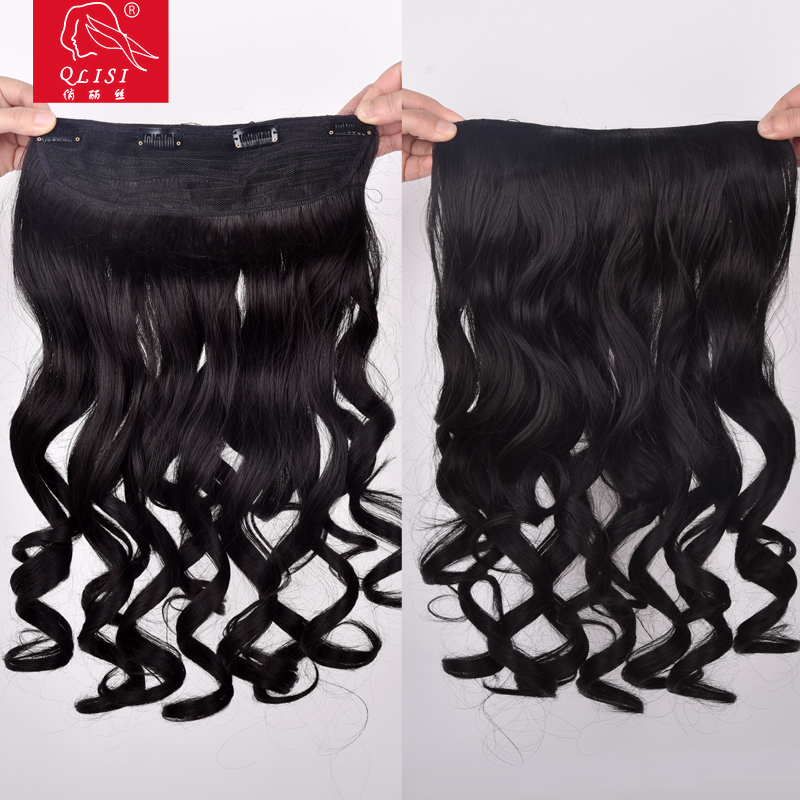 20'' Kinky curly natural color half wigs soft hair wigs for black women