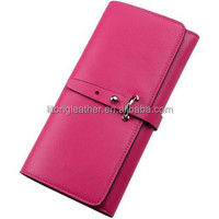 Custom logo wallet candy color women wallet leather wallet women purse