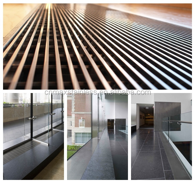 Stainless Steel Outdoor Linear Drain Grates