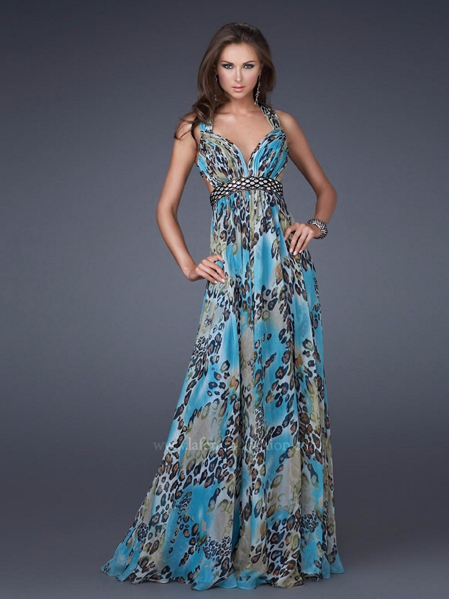 printed evening dresses