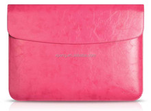 New pink PU Leather skin Cover Case for mac book pro computer case 11 12 13 15 inch