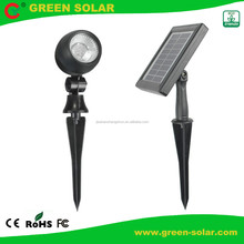CE ROHS Approval 12LED Spotlight Solar with 35 Lumens