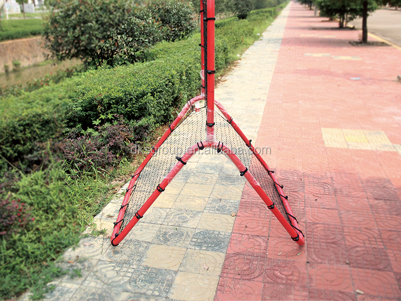 Factory Hot Selling Red Coated Baseball Practice Training Net