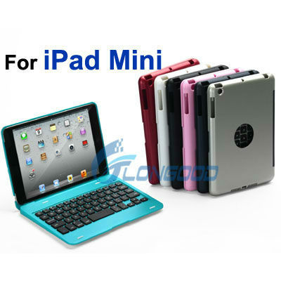2013 New Tablet Wireless Bluetooth Keyboard with Stand Hard Case Cover for iPad Mini