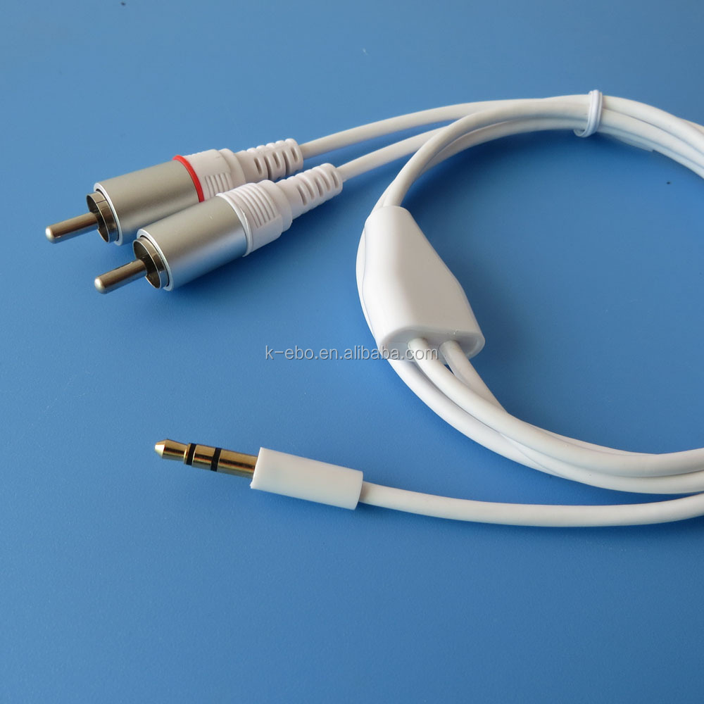 3.5mm male to 2RCA male cable 1mreter good oem factory
