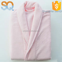 Promotional top quality custom color orange bathrobe