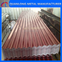 color metal corrugated tile roofing
