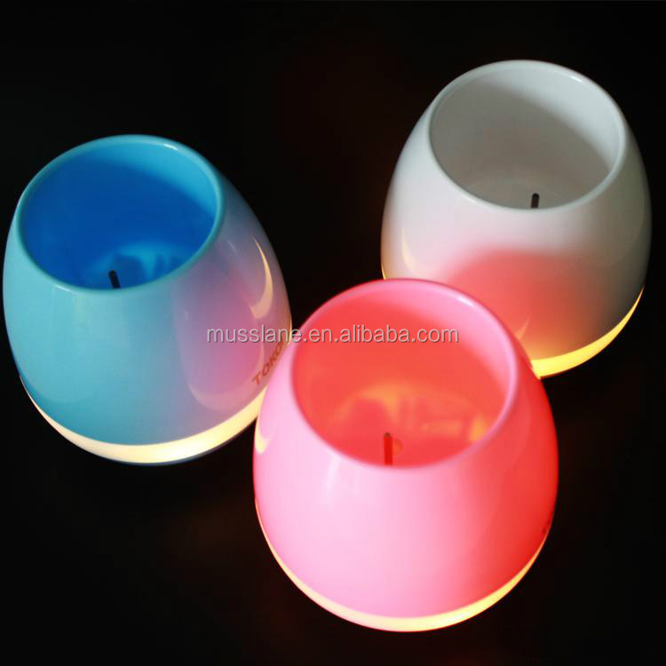 best gift item Wireless Bluetooth Speaker led Night Colorful light music flower pot