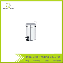 Competitive price stainless steel foot operation pedal mini trash can