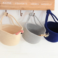 APHACATOP Cotton rope coiled indoor keys small things storage basket Storage Basket