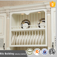 Customized size solid wood diy kitchen cabinet