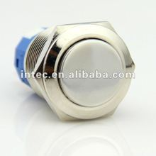 F0281 19mm metal push button switch latching