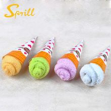 Most Popular Microfiber or Cotton 30cm gift icecream cake towel