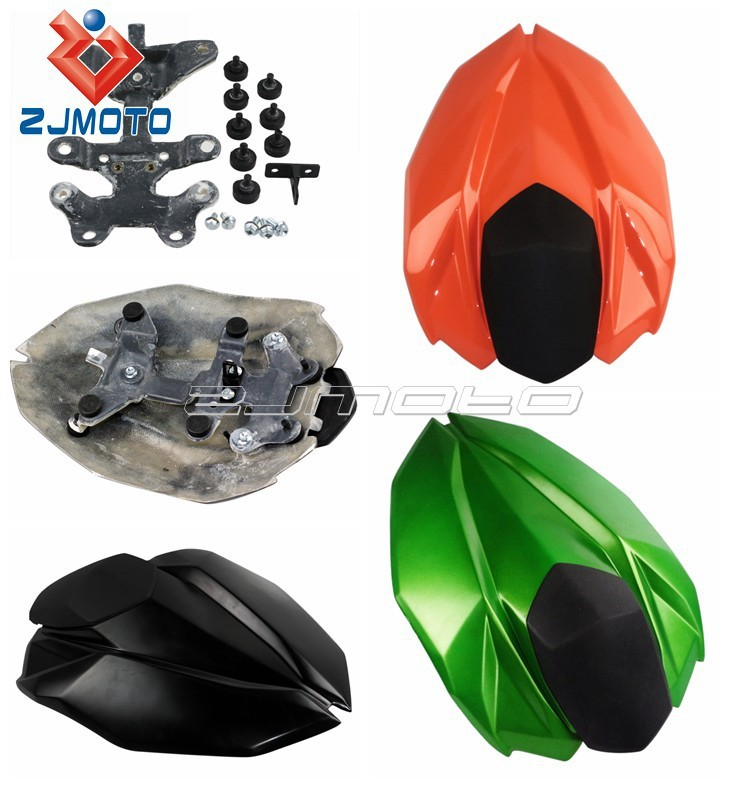 Motorcycle Rear Seat OEM Single Rear Seat Cover 3Color FRP Racing Fairing Motorcycle Bodywork Fairing For ninja z800 2013 ZJMOTO