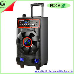 "12"" high quality build-in rechargeable battery speaker for speakers subwoofer 1000w car with 90W"