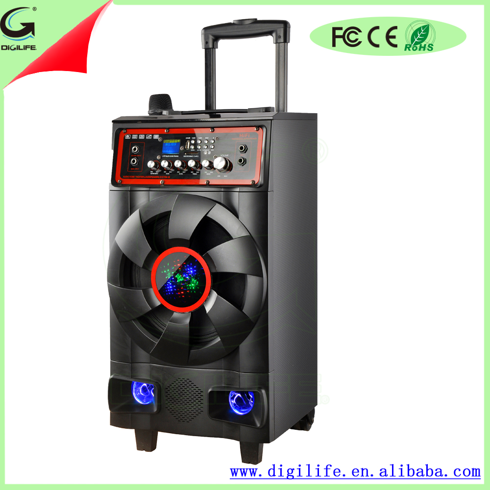 High quality build-in rechargeable battery stage speaker for speakers subwoofer 1000w car with 90W