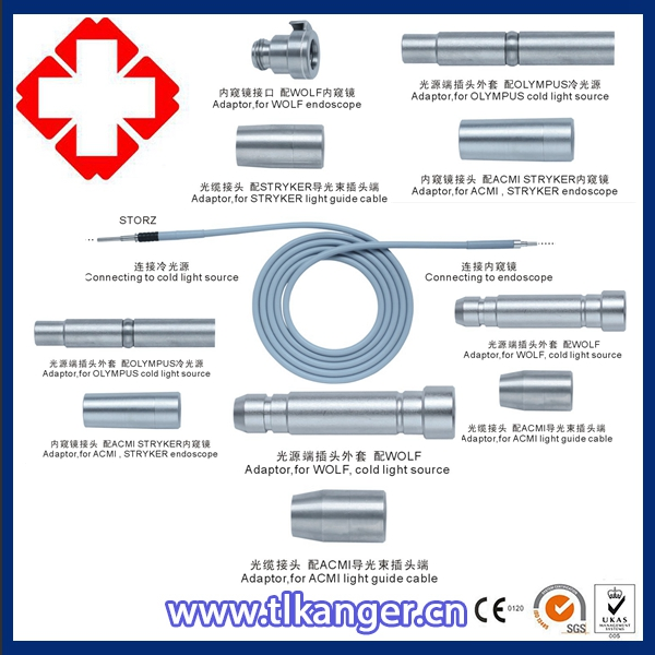 Endoscope Fiber Optical Cable / Light Cable 4mmX3.0m Storz Wolf Compatible