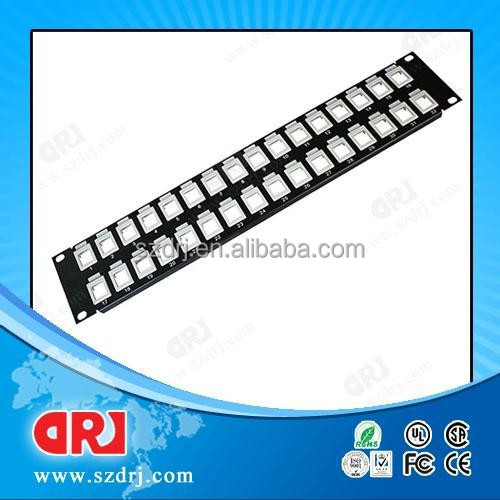 19 inch 2u Unloaded Blank Patch Panel,empty patch panel