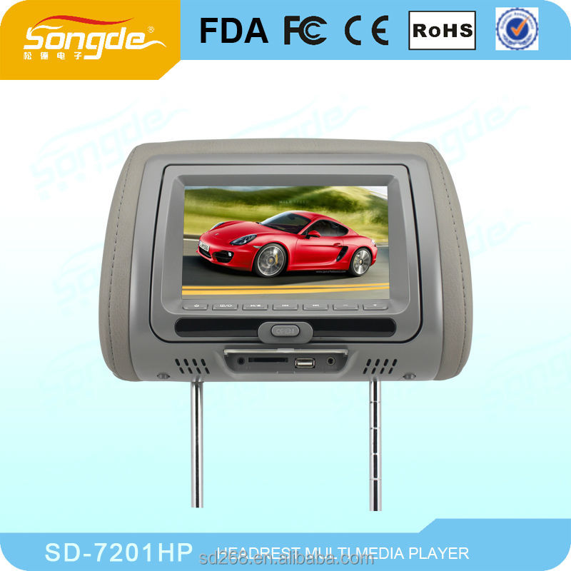 "Factory, Popular 7"" Digital Panel Car Headrest DVD"