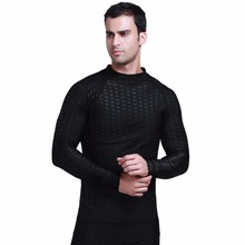 SBART Men's Hot Selling Rash Guard, Spearfishing Wetsuit and UV Long Sleeve Shirt in Sharkskin Fabric with High Quality