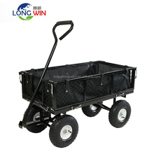 Folding Sides Flatbed Garden Utility Cart/ Yard Wagon