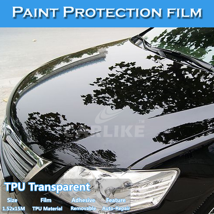 1.52x15M Clear Car Paint Protection Vinyl Film For Car Body Wrap