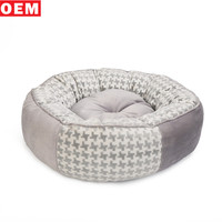 Wholesale High Quality Dog House Soft Round Dog Bed Luxury For Pets