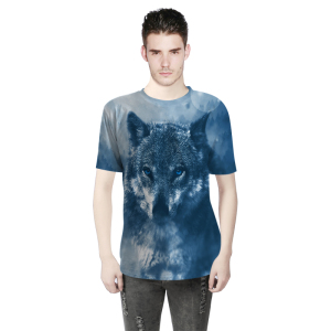 Design 3D Sublimation Printed Anti-Pilling Casual Short Sleeve T-Shirt