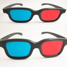 JAXY classic wholesale Plastic Red blue/cyan 3D glasses for 3D movie and games as promotional gift