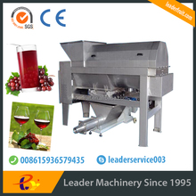 Leader effecient energy-saving durable stainless steel grape crusher and destemmer machine