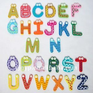 Children Teaching material Promotional alphabet Fridge Magnet