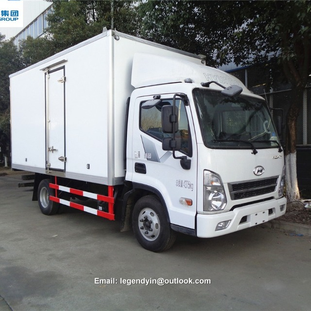 FAMOUS BRAND KOREA 4X2 3 TONS 4 TONS DRY CARGO INSULATION BOX TRUCK FOR SALE IN MYANMAR