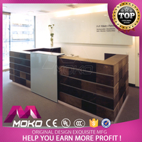 High quality MDF beauty salon service counter custom made salon furniture