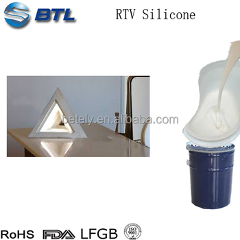 Concrete liquid silicone rubber molds